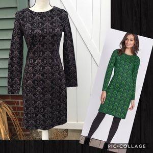 Boden Guinevere Floral Jacquard Long Sleeve Dress